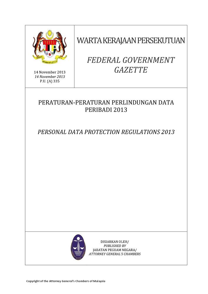 Warta Gazette Jabatan Perlindungan Data Peribadi
