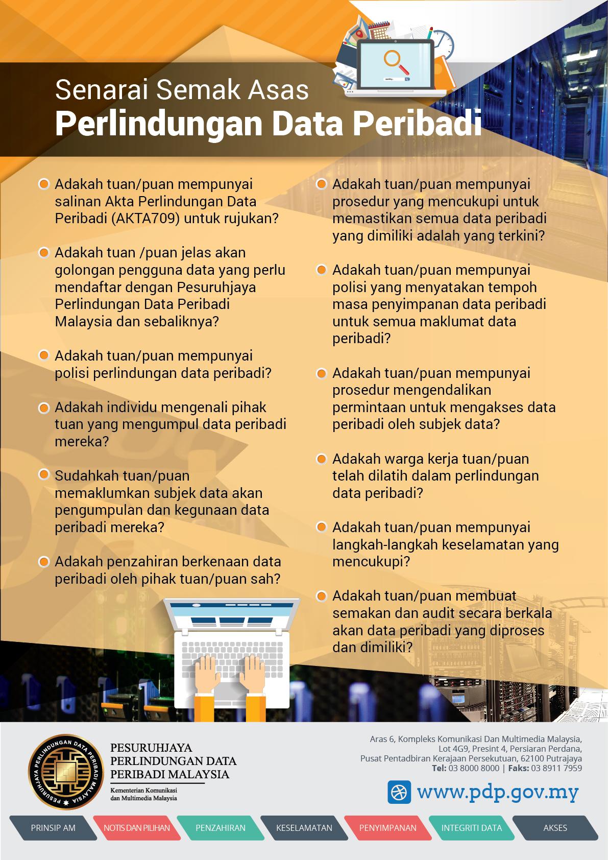 Poster Jabatan Perlindungan Data Peribadi